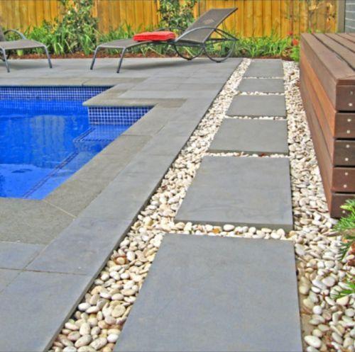 Bluestone Pavers Images Photo Landscaping Around Pool Backyard Pool Landscaping Inground Pool Landscaping