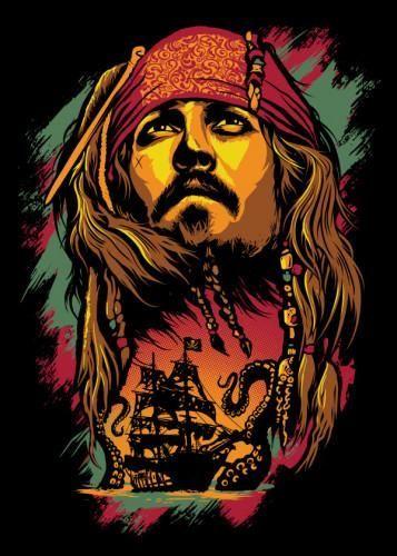 Tablo Single Banadaora Pirates Of The Caribbean Jack Sparrow Wallpaper Sparrow Drawing Jack Sparrow Drawing