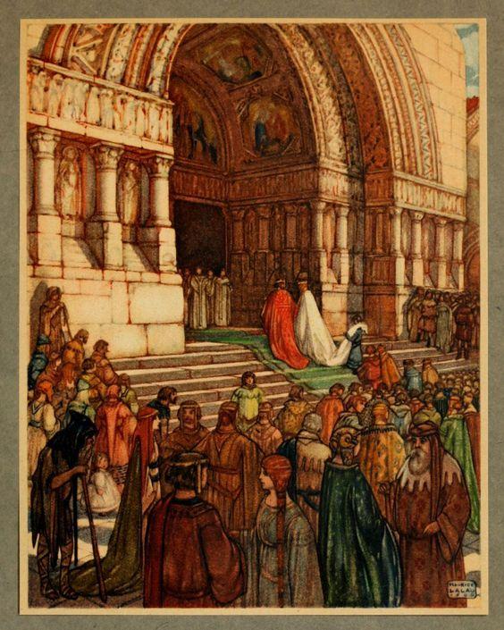 Le Roman de Tristan et Iseut illustré par Maurice Lalau Le roi Mark prit Iseut la Blonde pour épouse …