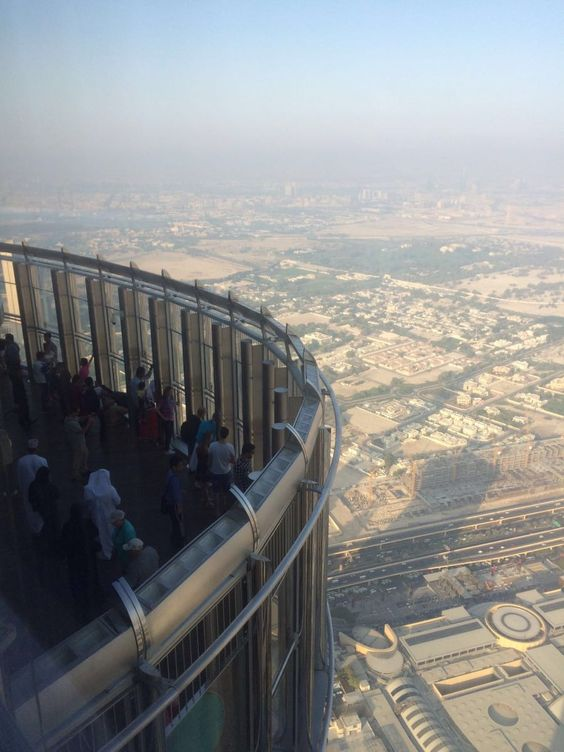 The outdoor terrace on Burj Khalifa observation deck on level 124