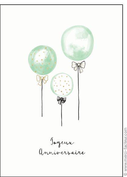 Carte Des Ballons Pour Un Joyeux Anniversaire Pour Envoyer Par La