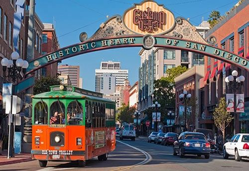 walk through the Gaslamp Quarter - where San Diego's colourful past mixes with the hustle and bustle of the modern city.