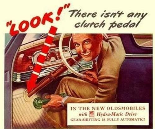 Oldsmobile Introduces the Turbohydramatic Trans. Another Oldsmobile engineering first!