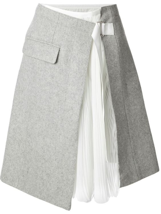 Sacai Wrap Skirt -Farfetch.com: