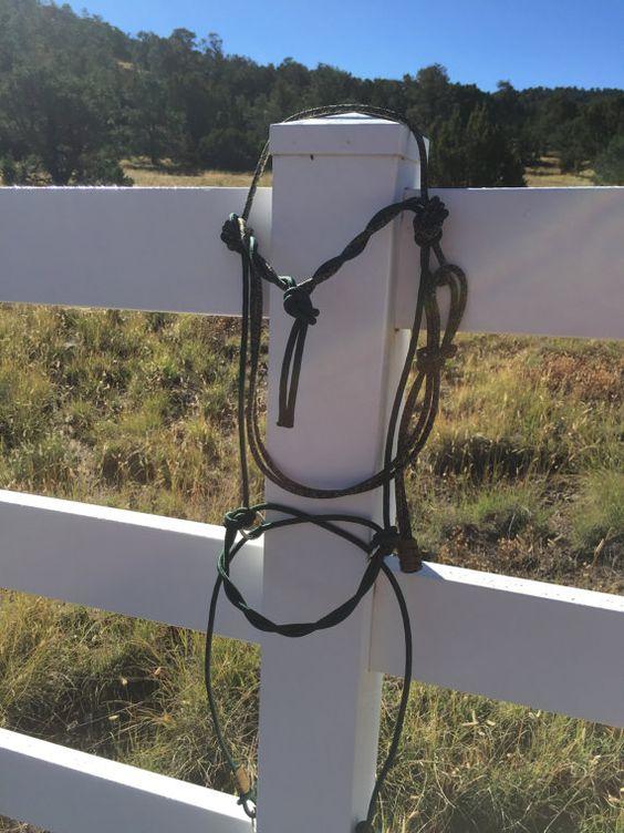 Bitless Bridle Hackamore indien Style-rigide corde par SimpleLoops
