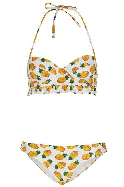 swimwear pineapple pineapple swimsuit pineappel pineapple print bikini bikini bottoms bikini top topshop: