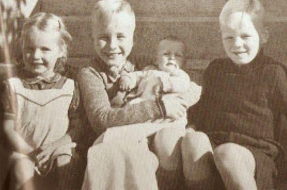 The Heydrich children: Klaus, Heider, Silke and Marte