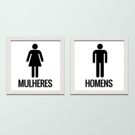 Quadro para Banheiro – Homem e Mulher - Decor Quadros - decore com arte!