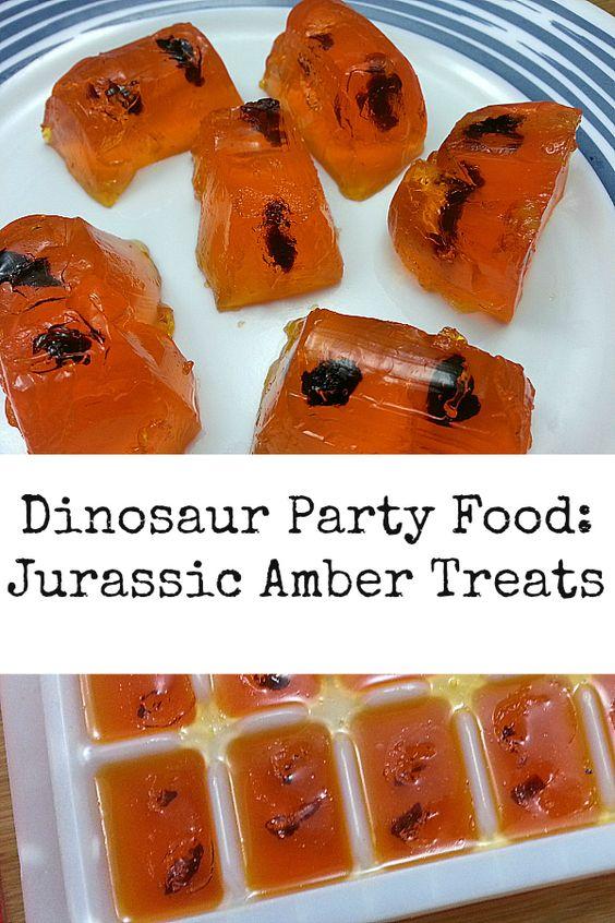 Dinosaur Party Food: Jurassic Amber Treats