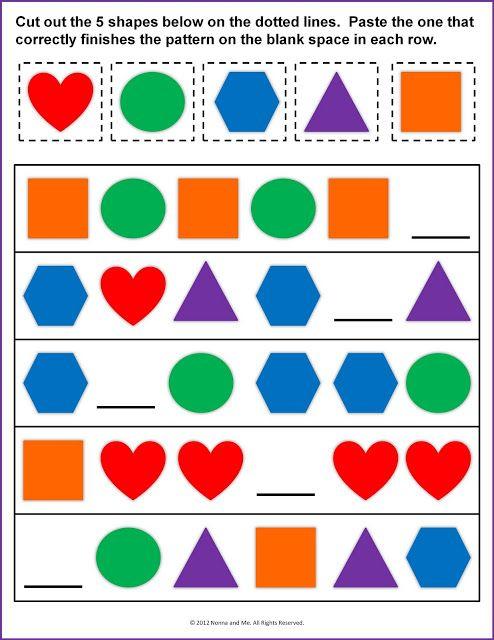 finish the pattern good for assessment math activities prek pinterest teaching. Black Bedroom Furniture Sets. Home Design Ideas