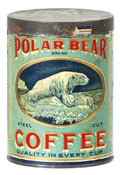 Polar Bear Coffee TIn | Antique Advertising Value and Price Guide