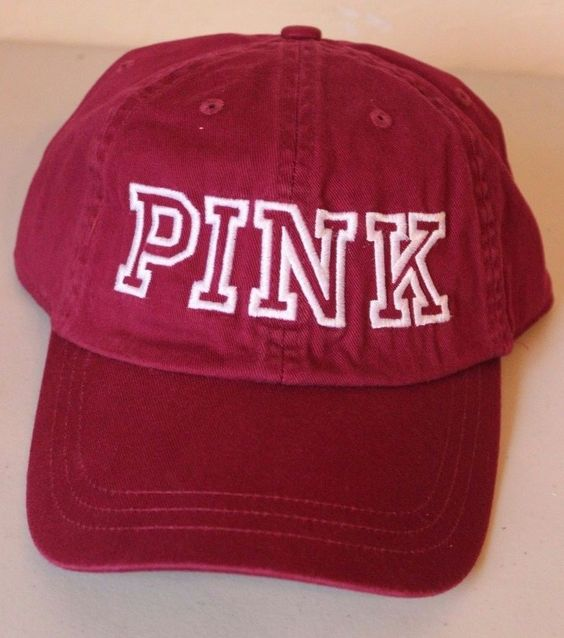 PINK Victoria Secret Baseball Cap Hat Limited Edition Maroon White - NEW…