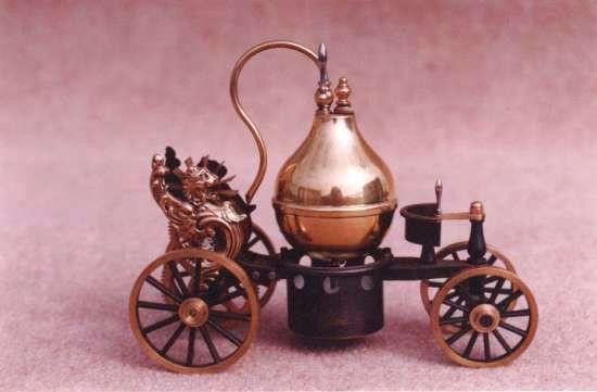 Petit chariot à vapeur construit à 20 exemplaires par J.P. Delaby
