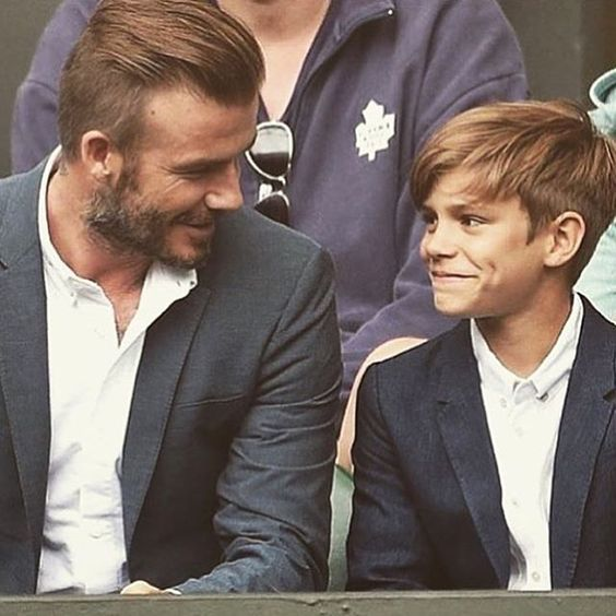 David Beckham and his son ❤️ Via @luxury.rs