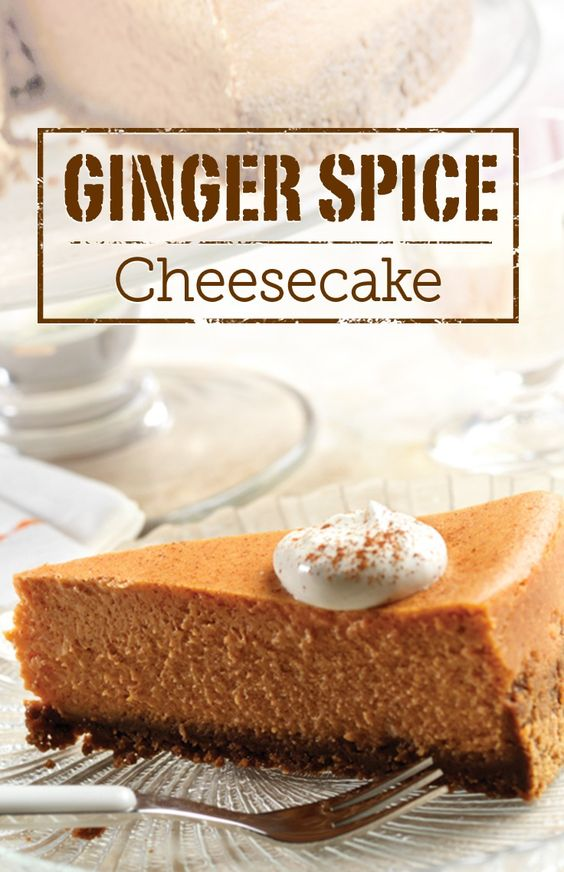 Ginger Spice Cheesecake – Cinnamon, nutmeg and a secret ingredient ...