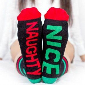 NAUGHTY NICE socks! How cute! Love the whole line of Arthur George!