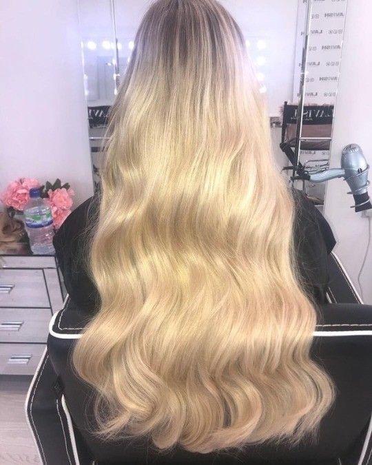 Pin By Tiana On Hair Long Blonde Hair Permed Hairstyles Long Hair Styles