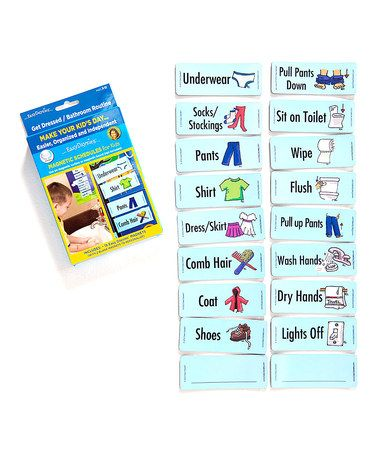 Take a look at this Easy Daysies Get Dressed & Bathroom Routines Magnet Set by Award-Winning Toys Collection on #zulily today!