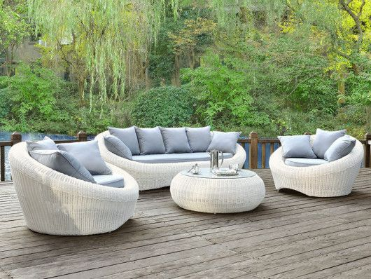 Table Basse De Jardin Whiteheaven En Resine Tressee Caramel Outdoor Furniture Lounge Chair Outdoor Outdoor Furniture Sets