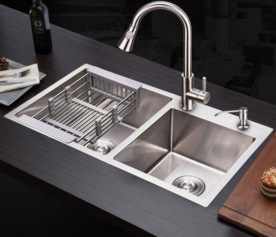 Chậu rửa bát AMTS dùng có bền không?
