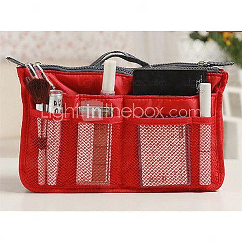Women's Fashion Casual Multifunctional Mesh Cosmetic Makeup Bag Storage Tote Organizer(7 Color Choose) - USD $ 5.99