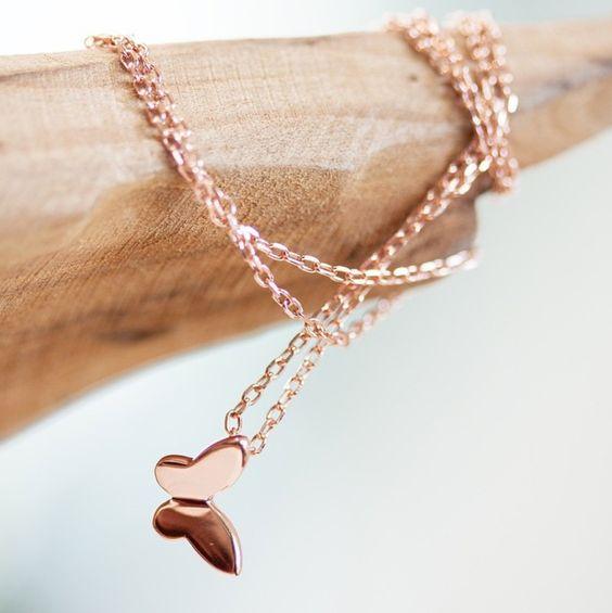 NEWONE-SHOP.COM I #dainty #butterfly #necklace