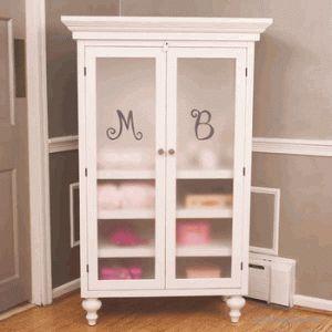 bratt decor monogrammed armoire (white)
