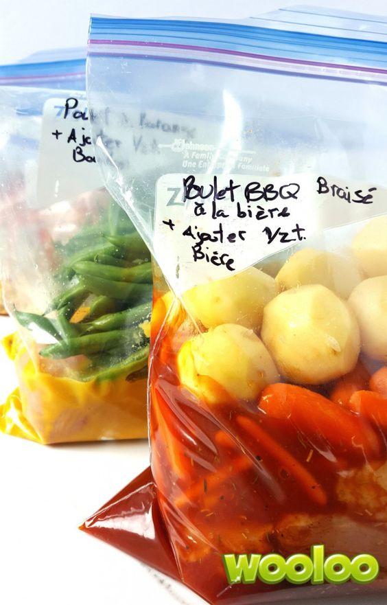 """Le """"dump dinner"""" ou comment préparer 8 soupers en 60 minutes #mamanpressée #truc #astuce #congélo #mijoteuse"""