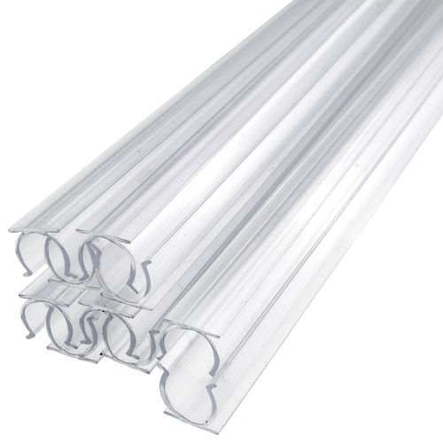 24 Inch X 1 2 Inch Rope Light Mounting Track Clear Pvc Channel 10 Pack 12 120 Volt In 2020 Rope Light Outdoor Rope Lights Rope Lights