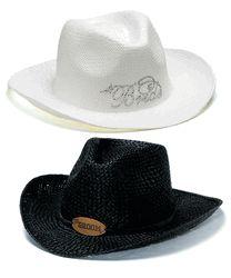 Bride and Groom Cowboy hats!