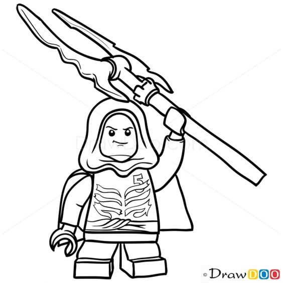 How to Draw Lloyd Garmadon Lego