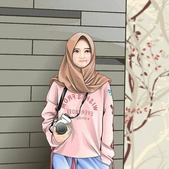 Hijabers Fanart Hijab Cartoon Islamic Girl Girl Hijab Cool tomboy hijab anime wallpaper