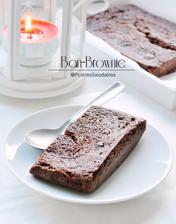 Postres Saludables   Brownie de banano saludable en 10 minutos   http://www.postressaludables.com