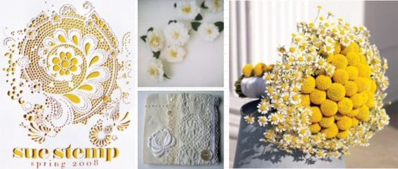 Love the bouquet!   Yellow and Eyelet : ColorFresh { Beachy } color inspiration by FamilyFreshCooking.com