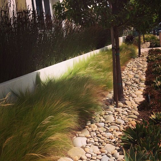 Molly Wood Garden Design Grass Rocks Give Great Texture And Are Very