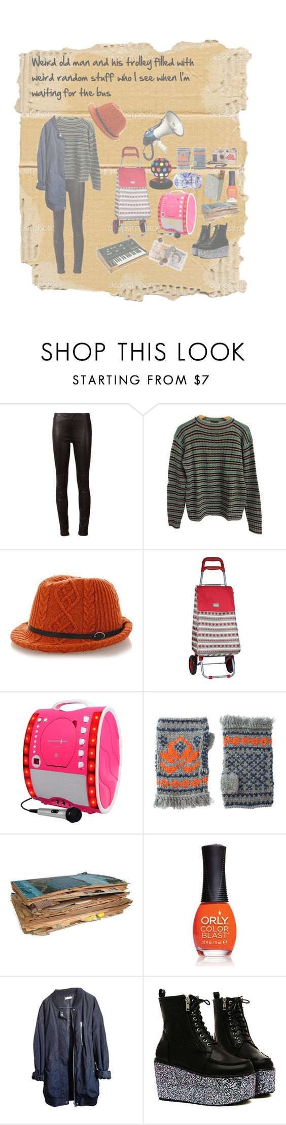 """Weird old man and his trolley filled with weird random stuff who I see when I'm waiting for the bus."" by vintageenglishrose ❤ liked on Polyvore featuring Lanvin, Prada, Inverni, Sabichi, Lowie, Moog, ORLY and Urban Outfitters"