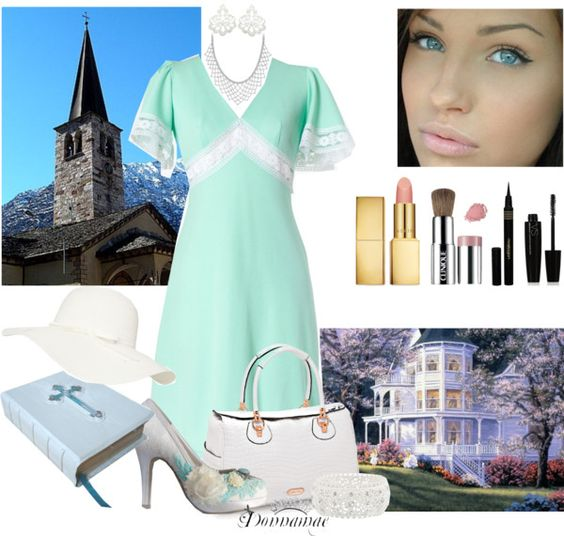 """Perfect Sunday - From Church to a Garden Party"" by donnamae-harkness ❤ liked on Polyvore"