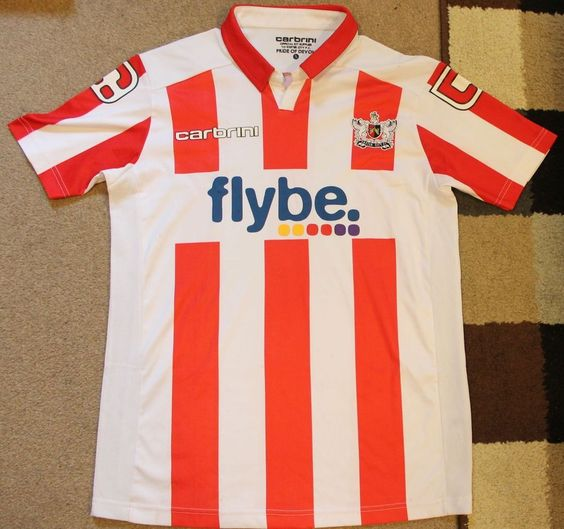 EXETER CITY FC 'Carbrini  (Home) Shirt 2011-2012 (Small)