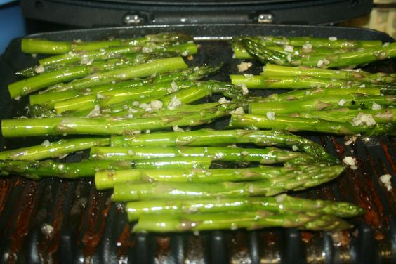 Asparagus on the George Foreman Grill are easy, fast and very good.