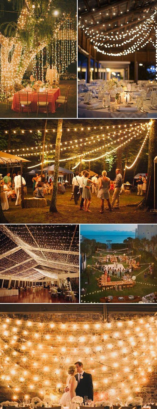 Best 25 Wedding String Lights Ideas On Pinterest