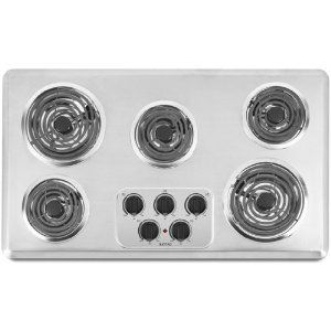 #8: Maytag MEC4536WC 36 Electric Cooktop - Brushed Chrome.: Electric Cooktop, Maytag Mec4536Wc, 36 Electric, House Remodel Ideas, Model Mec4536Wc, Coil Elements, Cooktop Mec4536Wc, Elements Mec4536Wc, Kitchen Remodel