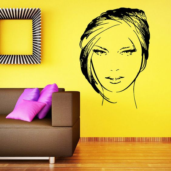 makeup wall decal vinyl sticker decals home decor mural make up girl eyes woman fashion cosmetic