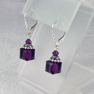 Cube Swarovski Earrings $25