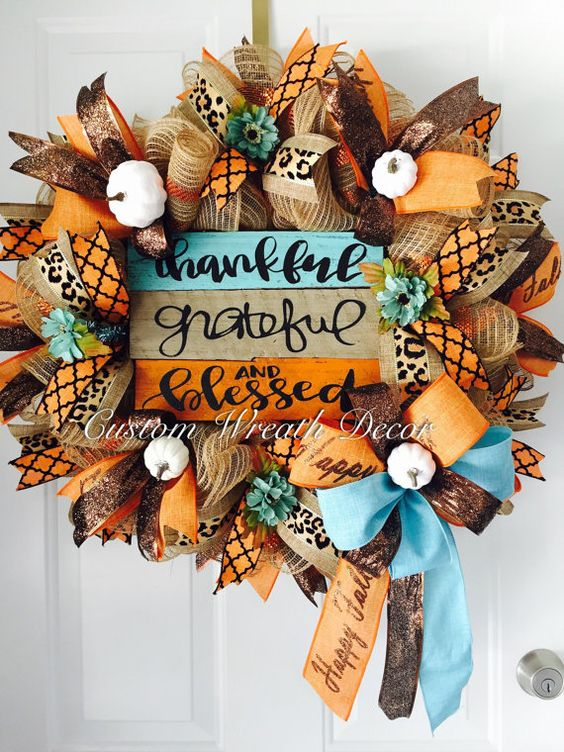 Hey, I found this really awesome Etsy listing at https://www.etsy.com/listing/472315820/thankful-grateful-blessed-wreath-fall