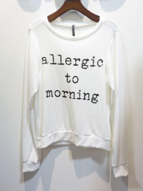Allergic To Morning Sweatshirt: