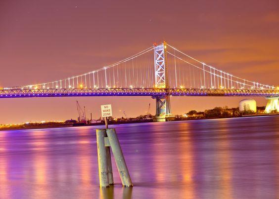 Benjamin Franklin bridge Lit up..!!! by Jayanth Kommidi on 500px