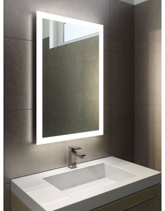 LED Illuminated Bathroom Mirror with Sensor, Demister Pad and Shaver socket
