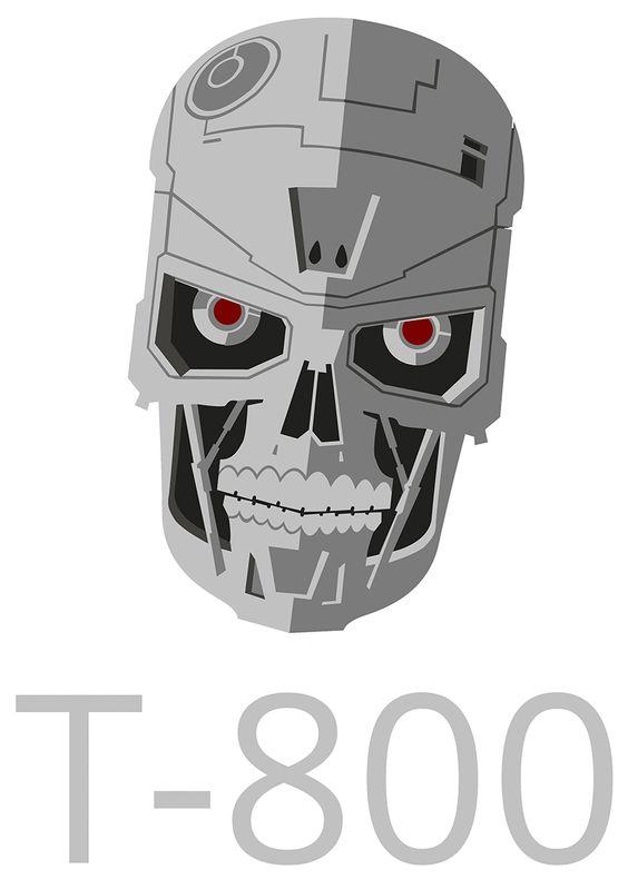3029 movie terminator t 800 guardian height 8 cm decal sticker movies decals pinterest