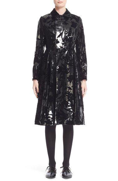 noir kei ninomiya Flocked Faux Leather Coat available at #Nordstrom