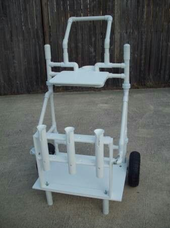 Pier fishing cart pvc pinterest surf colorado and for Homemade fishing cart